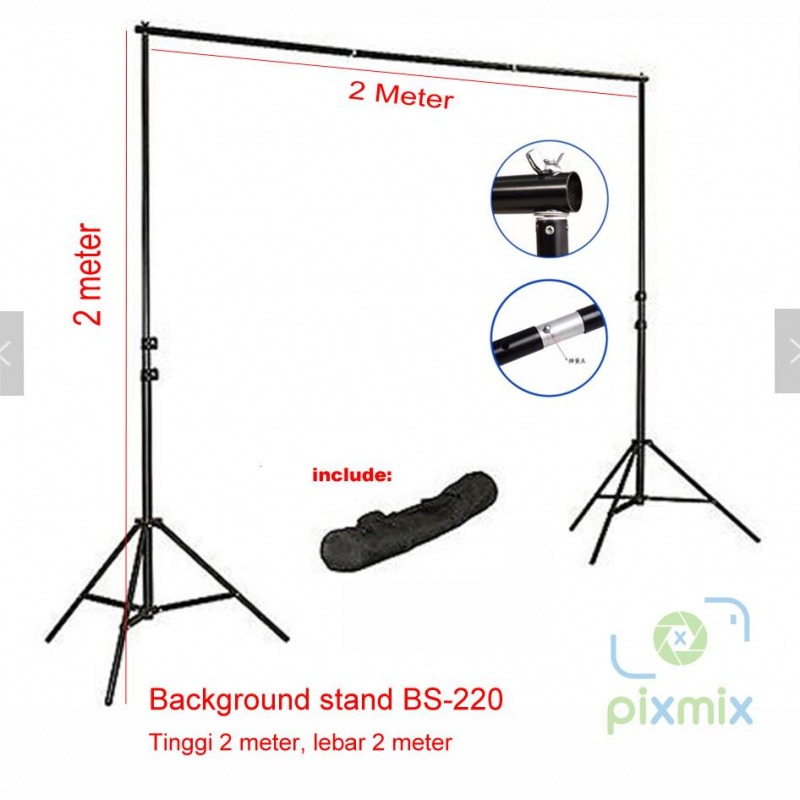 Background Stand uk. 2 x 2M | Stand Foto Studio