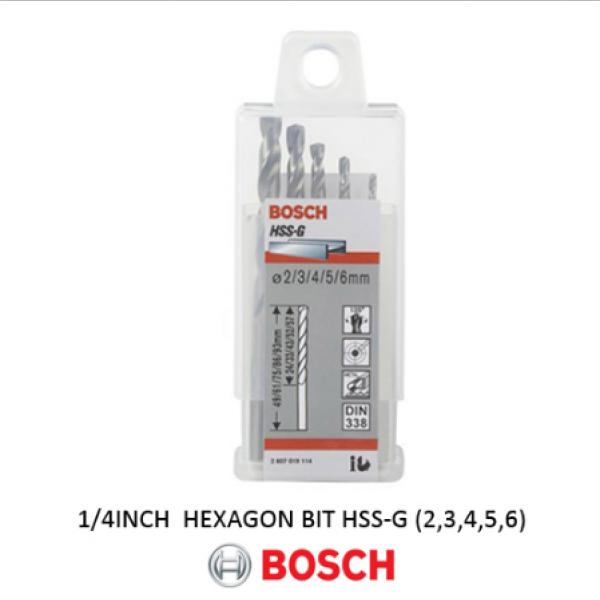 Mata Bor Besi Set Bosch 5pcs HSS-G