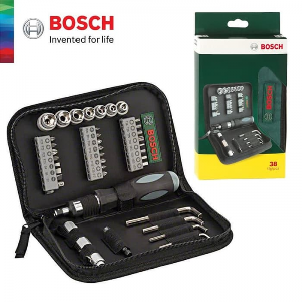 BOSCH 38 Pcs Mata Obeng Set / Screwdriver Mixed Socket Set