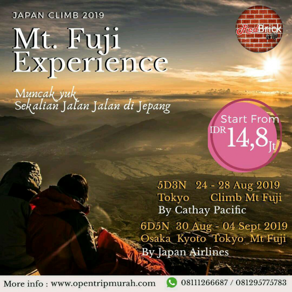 Climb Mt. Fuji Experience 2019