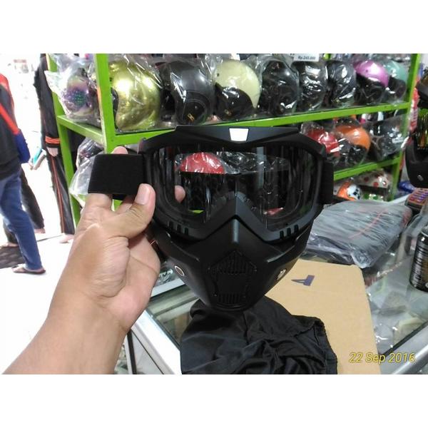 Masker Goggle Kaca Bening V1