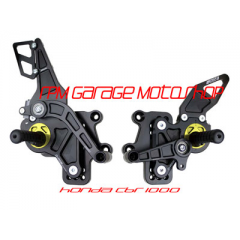 Driven D-Axis RearSet/Footstep Black Gold  Honda CBR1000 08-13
