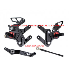 Driven D-Axis Black Red Footstep Yamaha R6 2006-2013