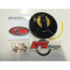 Evotech Rapid Fuel Gas Cap Black Colour and Gold Nuts