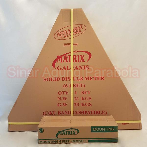 Antena Parabola Solid 6 feet Matrix Galvanis Bolong Bolong