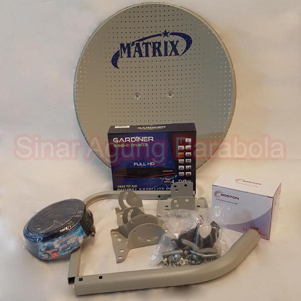Paket Ninmedia Gardiner Oracle Dan Parabola 45cm ODU Dua Satelit