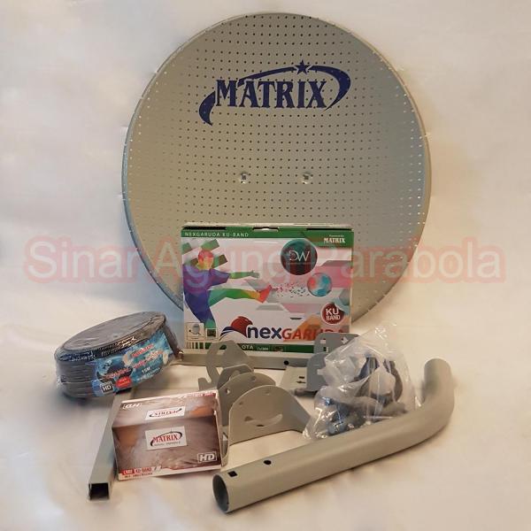 Paket NexGaruda Hijau dan Antena Matrix 45cm ODU Bolong Bolong