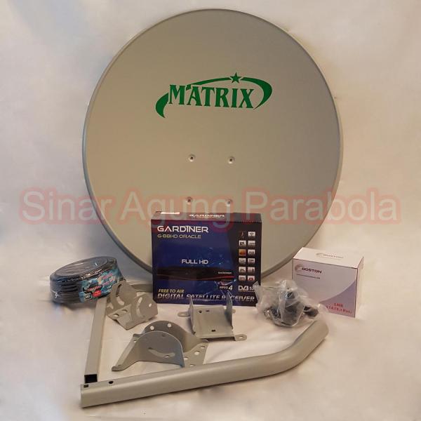 Paket Ninmedia Gardiner Oracle Dan Parabola 60cm ODU Dua Satelit
