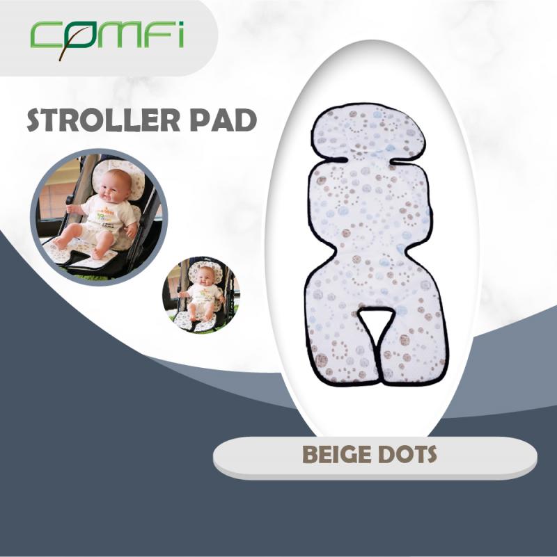 Comfi Seat/Stroller Pad Beige Dots