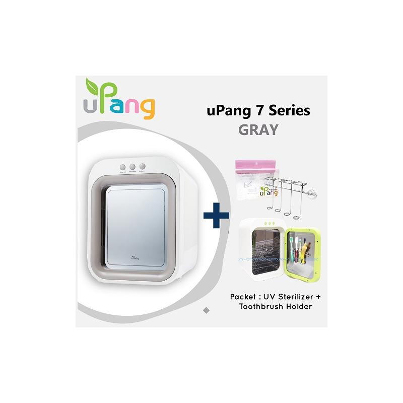 Packet: uPang UV Waterless Sterilizer - Gray + Toothbrush Holder