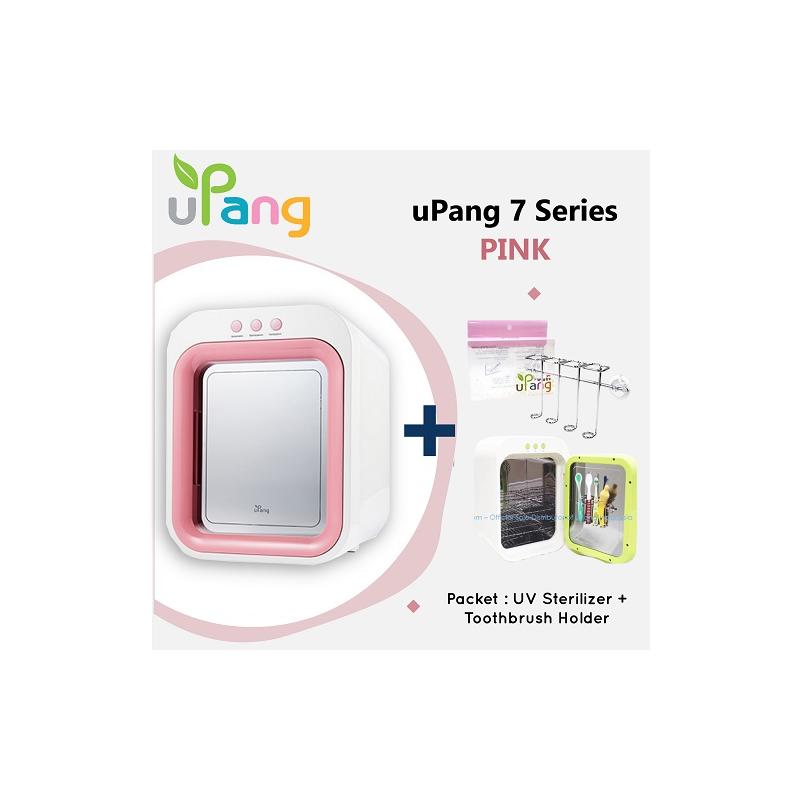 Packet: uPang UV Waterless Sterilizer - Pink + Toothbrush Holder