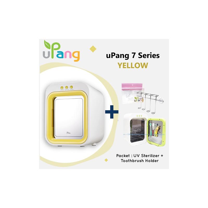 Packet: uPang UV Waterless Sterilizer - Yellow + Toothbrush Holder