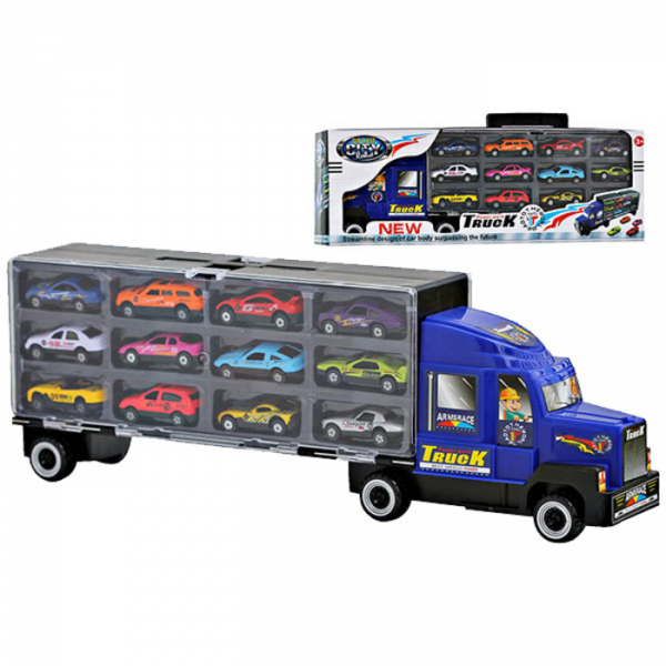 Die Cast City Truck Besar JP 9988 Isi 12 Pcs