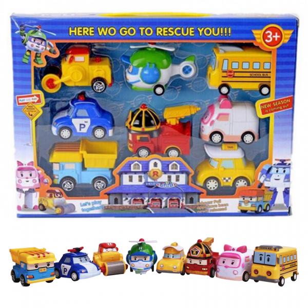 Action Figure Robocar Poli Isi 8 Pcs
