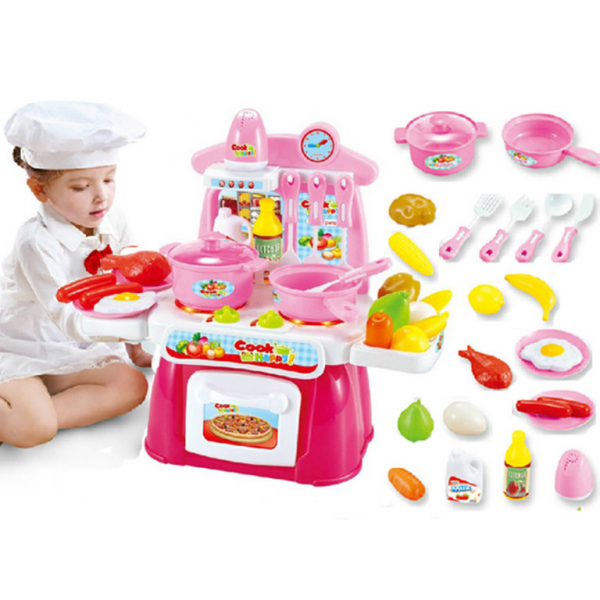 Happy Cook Kitchen Playset Pink