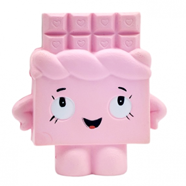 Squishy Pink Chocolate Bar