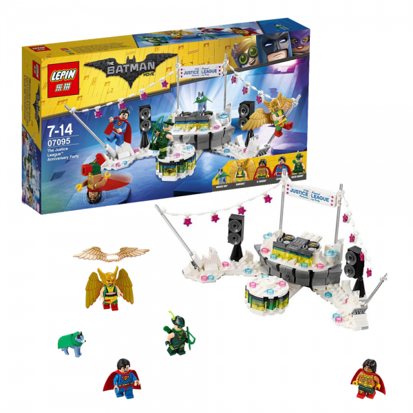 LEPIN Super Heroes 07095 Justice League Anniversary Party Lego KW