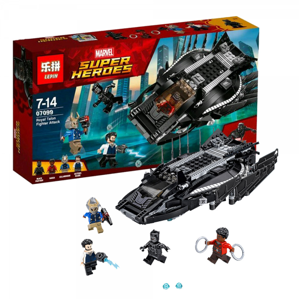 LEPIN Super Heroes 07099 Black Panther Royal Talon Fighter Attack Lego KW