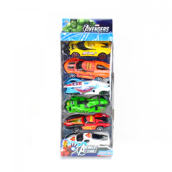 Die Cast Avengers Pullback isi 6pcs 909-299A