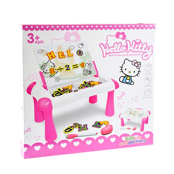 Meja Magnetic Multifunction Desk Hand Painted Plate Hello Kitty