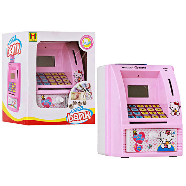Mainan Edukasi Celengan ATM Hello Kitty
