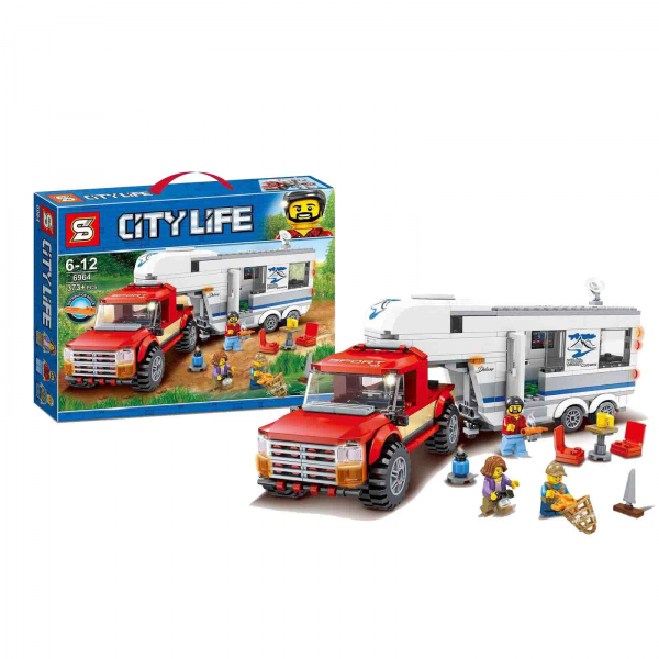 SY City 6964 Pickup and Caravan Lego KW