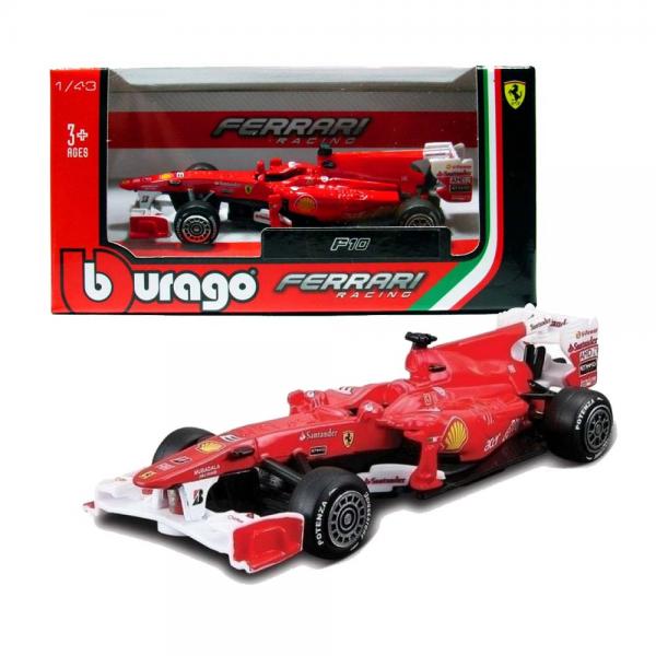 Die Cast Racing F1 Ferrari F10 Bburago Fernando Alonso No. 8