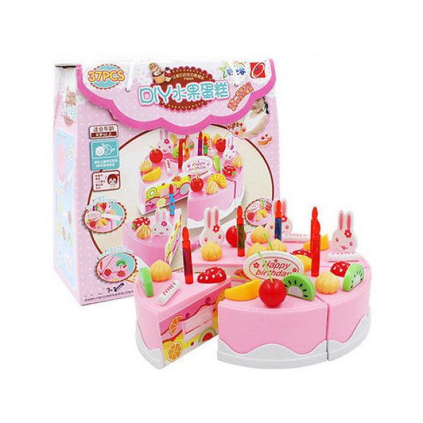 Mainan DIY Kue Ulang Tahun Anak Fruit Cake 37 pcs