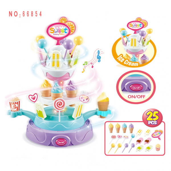 Sweet Ice Cream Rotating Platform Minimarket 25pcs 668-54