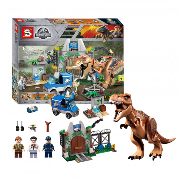 SY Jurassic World 1082 T-Rex Breakout Lego KW