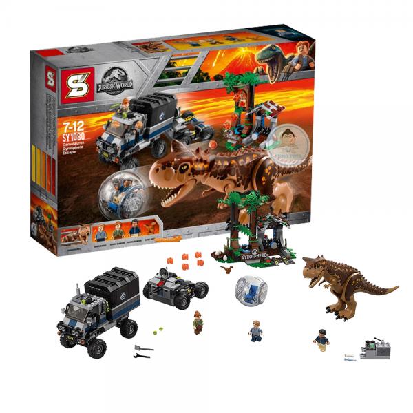 SY Jurassic World 1080 Carnotaurus Gyrosphere Escape Lego KW