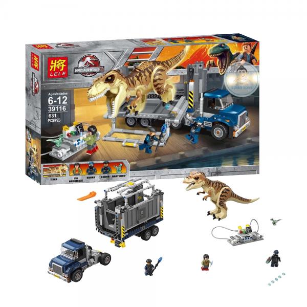 LELE Jurassic World 39116 T-Rex Transport Lego KW
