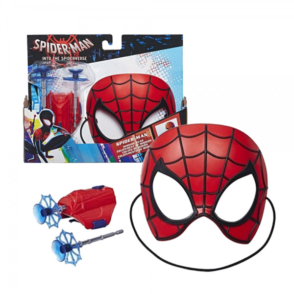 Kostum Topeng + Senjata Spiderverse Spiderman
