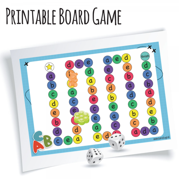 Printable Alphabet Board Game
