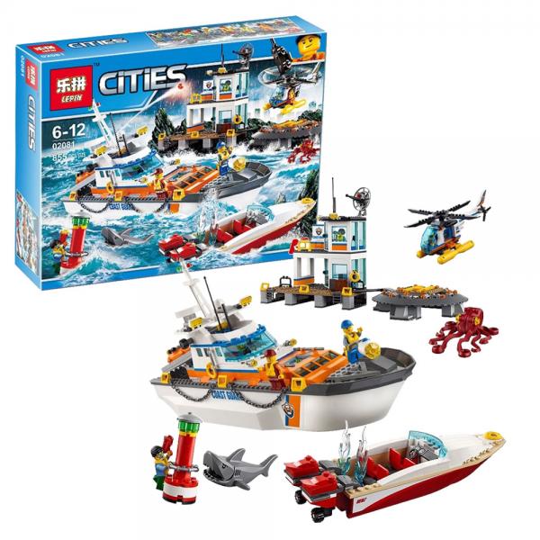 LEPIN City 02081 Coast Guard Head Quarters Lego KW 60167