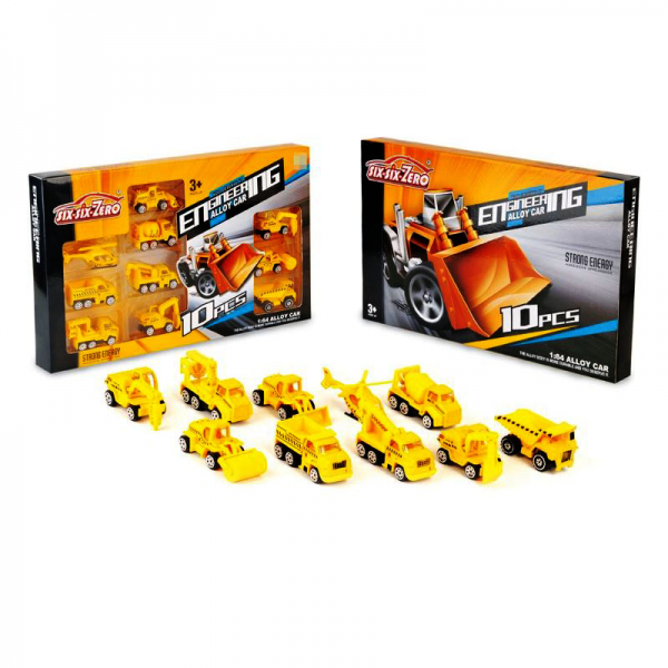Diecast Six-Six-Zero Engineering Alloy Car isi 10 pcs