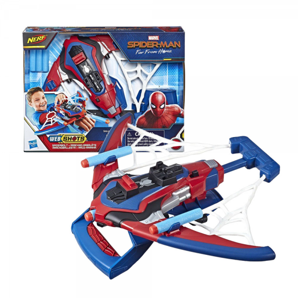 Nerf SpiderMan Far From Home Web Shots Spiderbolt Blaster