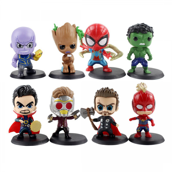 Figure Chibi Avengers End Game isi 8 pcs