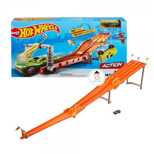 Hot Wheels 4-lane Elimination Race Track Set