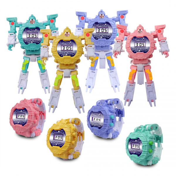 Jam Tangan Anak Deformed Transformers Watch Puzzle Robot