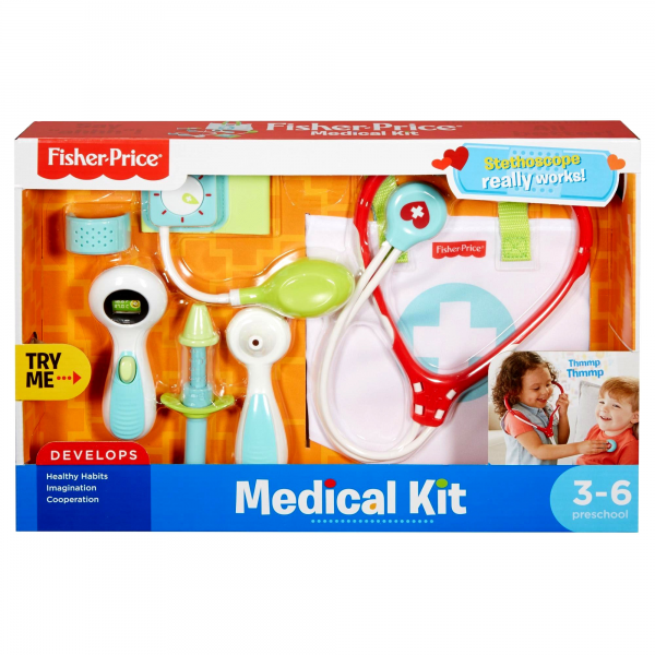 Fisher-Price Medical Kit with Doctor Health Bag Playset