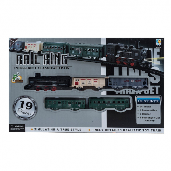 Rail King Intelligent Classical Train 19 Pcs