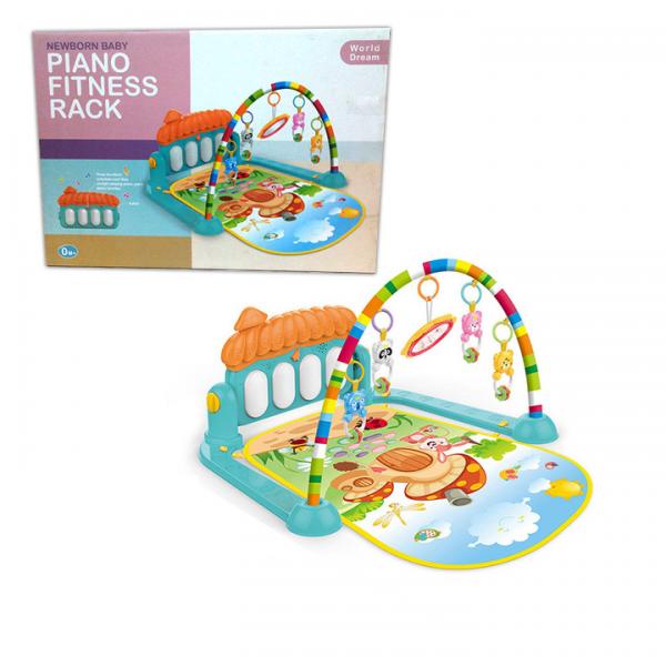 3in1 Newborn Baby Play Gym Piano Fitness Rack Mat