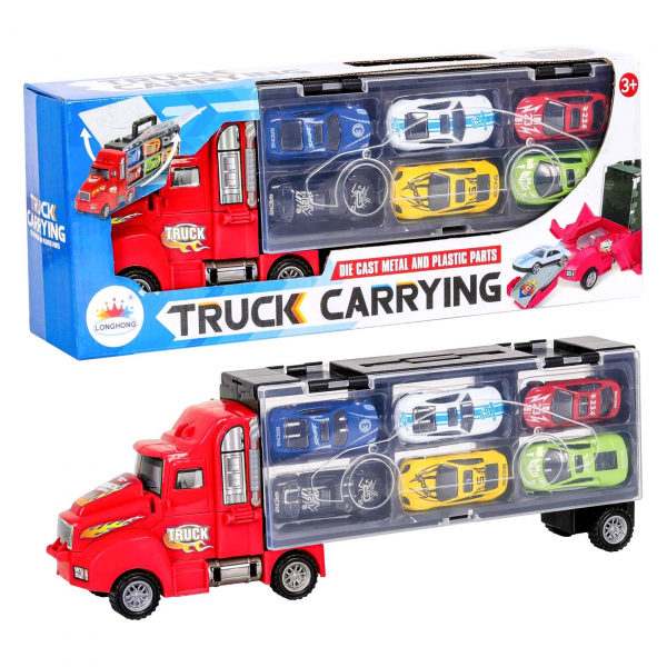 Transporter Truck Carrying Case Die Cast Metal