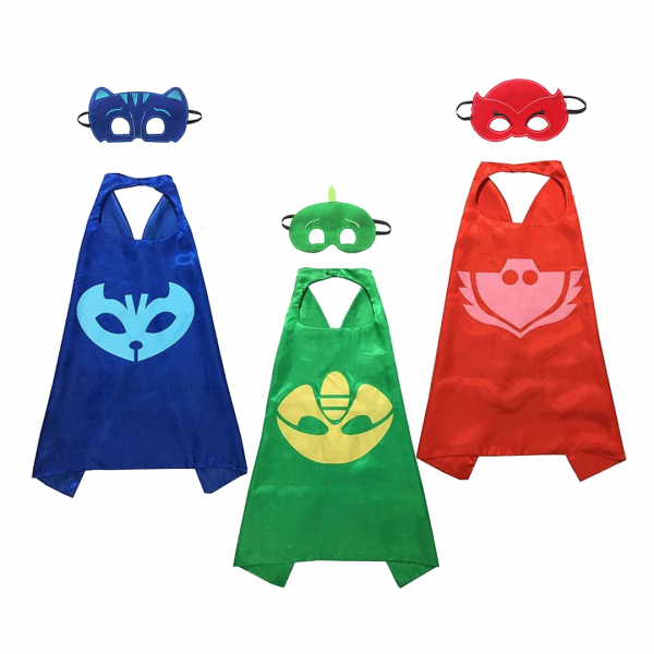 Kostum PJ Masks Topeng + Jubah
