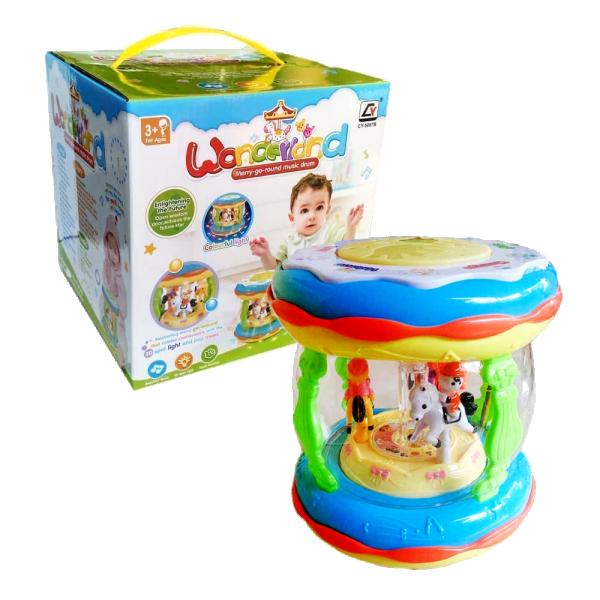 Mainan Baby Wonderland Merry-Go-Round Music Drum