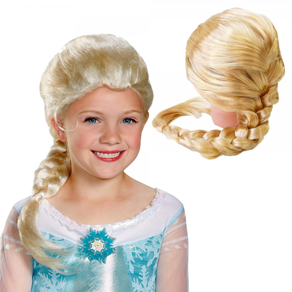 Kostum Frozen Rambut Palsu Kepang Wig Elsa