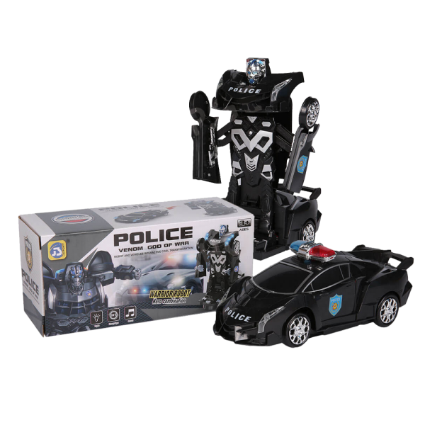 Transformers Deformation Robot Police Car
