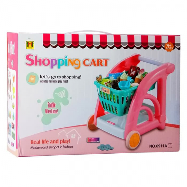 Mainan Shopping Cart Trolley No.6911A
