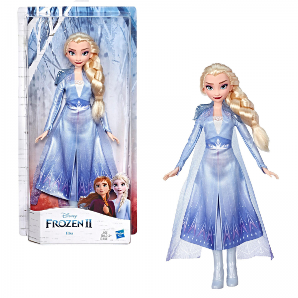 Hasbro Disney Frozen 2 - Elsa Fashion Doll With Long Blonde Hair and Blue Outfit